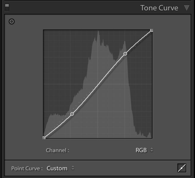 RGB tone curve to enhance contrast