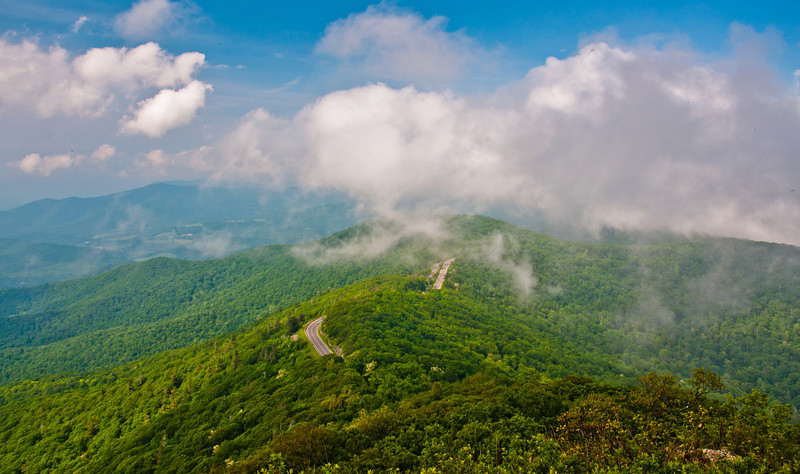 View of Skyline Drive and Appalachian Mountains, Shenandoah National Park, Virginia