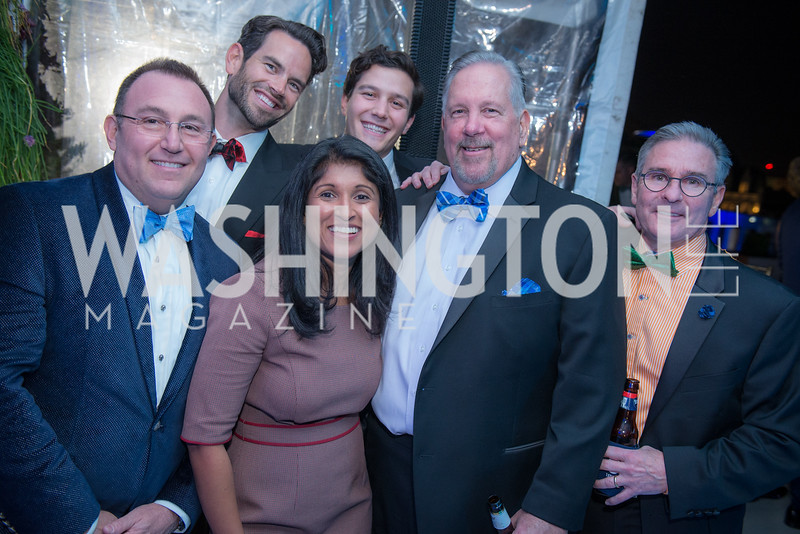 Mike Hartman,, Curtis Fowlie, Kavindi Wickremage, Robbie Bracci, Jim May, Dave Ennis, Capitol Seniors Housing, 15th Anniversary Party.  November 8, 2018. Photo by Ben Droz.