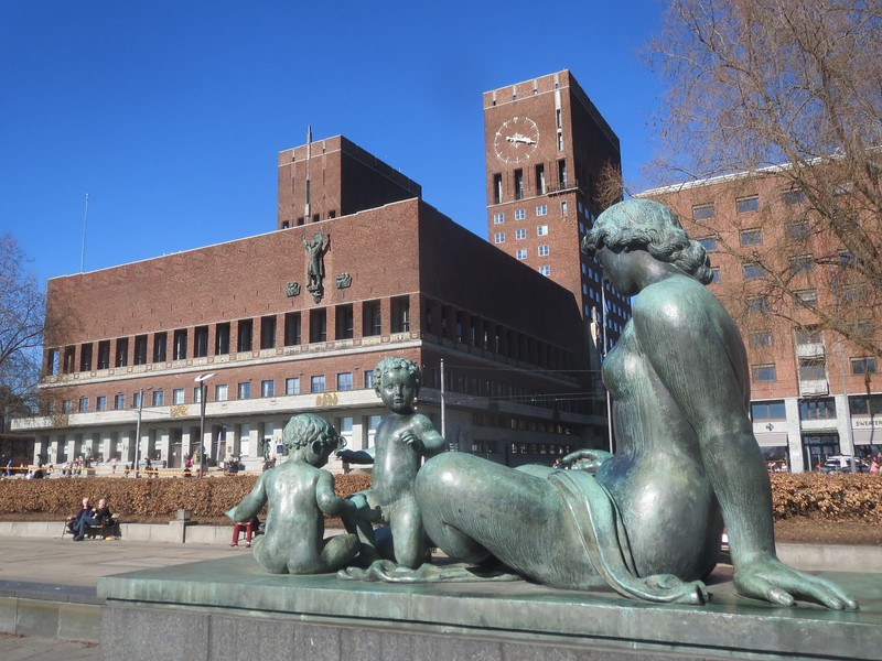 Oslo City Hall.. some of this was built before WW2