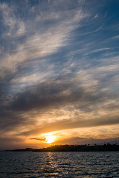 Sunset on Lake Issyk-Kul