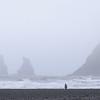 Vik Beach - looking towards Reynisdrangar basalt sea stacks