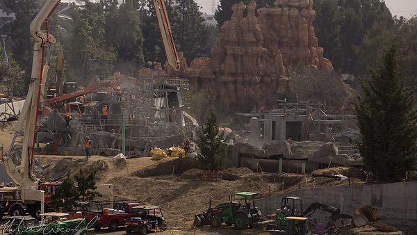 Disneyland Resort, Disneyland, Mickey And Friends Parking Structure, Mickey, Friends, Parking Structure, Frontierland, Critter Country, Star Wars Land, Rivers Of America, Rivers, River, America, Construction