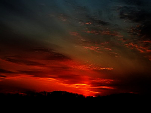 Sunset  and Sun pillar # 1360.jpg