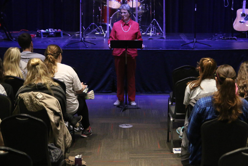 "Friday night and Saturday morning, Dr. Alice Cullinan provided the message on ""Who is God"" and ""Who am I."""