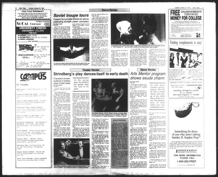 Daily Trojan, Vol. 111, No. 8, January 23, 1990