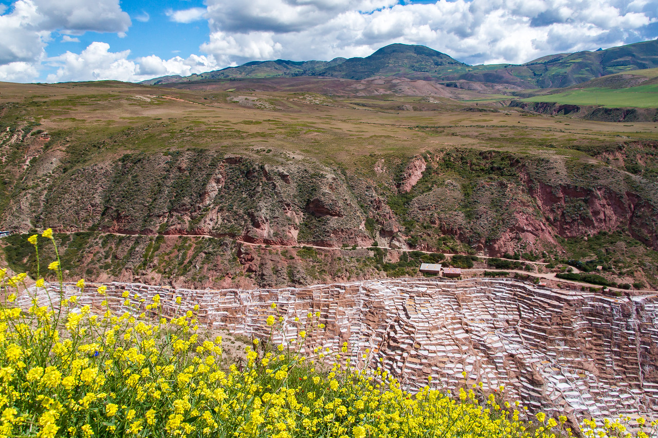 """The salt """"mines"""" in Maras, Sacred Valley which have been in use since Inca times (1450AD-1550AD)"""