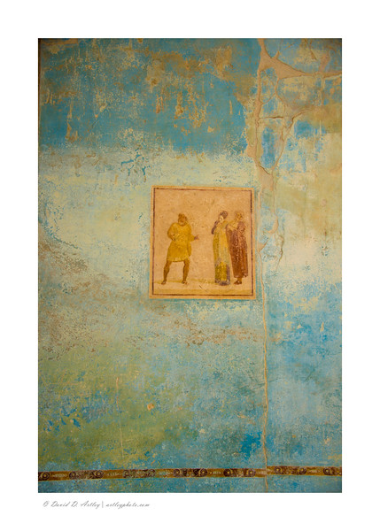 Painting on wall of House of Casca Longus, Pompeii, Italy