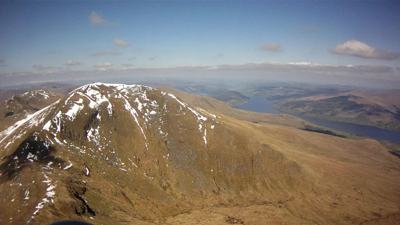 Approaching final run in to Ben Lawers. Phil on way back.