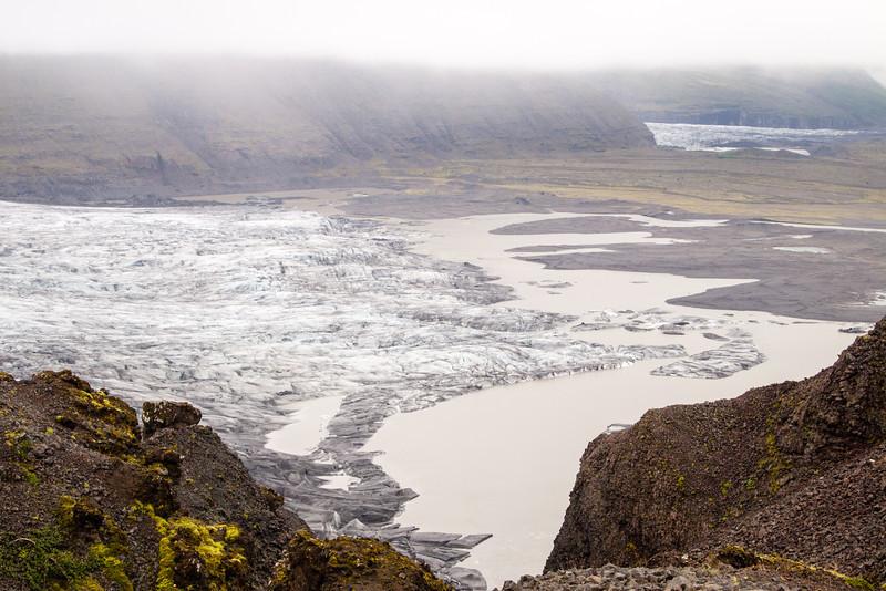 Overlooking the base of skaftafellsjokull.  The Svinafellsjokull glacier is in the distance