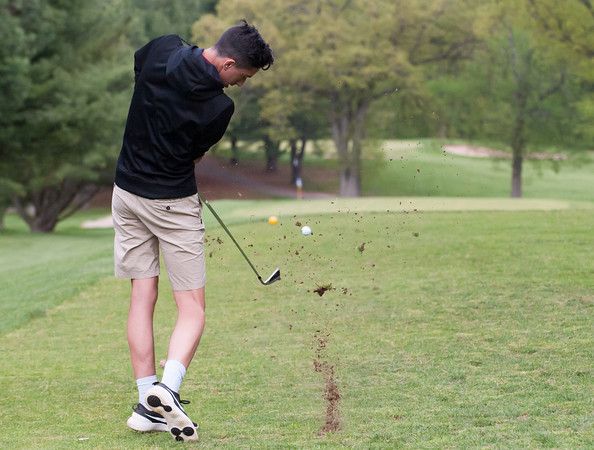 05/10/18 Wesley Bunnell | Staff New Britain golf defeated Bristol Eastern 212-219 at Stanley Golf Course on Thursday afternoon. New Britain's Johnny Morell shot a 46 to lead New Britain.