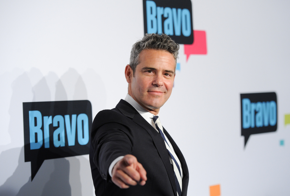 ". Executive vice president of development and talent at the Bravo Cable Network and ""Watch What Happens Live\"" host Andy Cohen attends the Bravo Network 2013 Upfront on Wednesday April 3, 2013 in New York. (Photo by Evan Agostini/Invision/AP)"