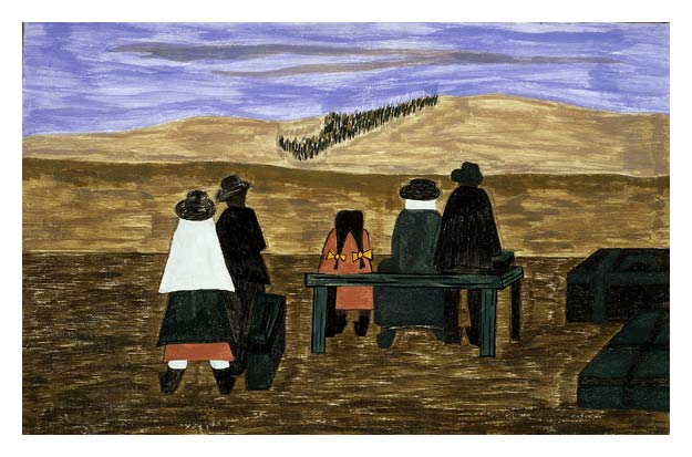 "Jacob Lawrence, ""The Migration of the Negro No. 21,"" 1941"