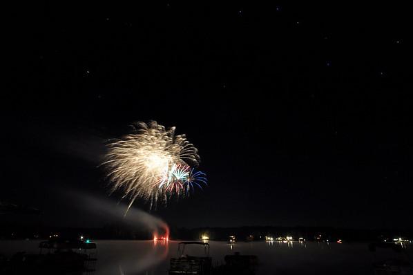 fireworks 2010 at Bass Lake