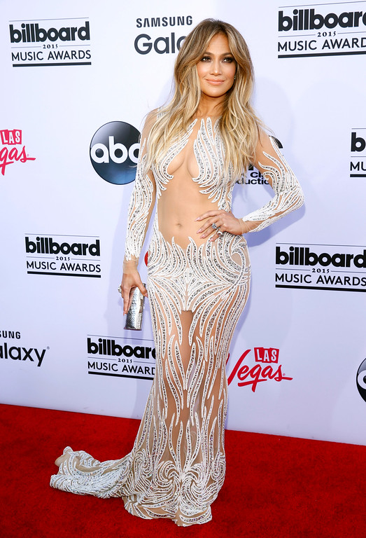 . Jennifer Lopez arrives at the Billboard Music Awards at the MGM Grand Garden Arena on Sunday, May 17, 2015, in Las Vegas. (Photo by Eric Jamison/Invision/AP)