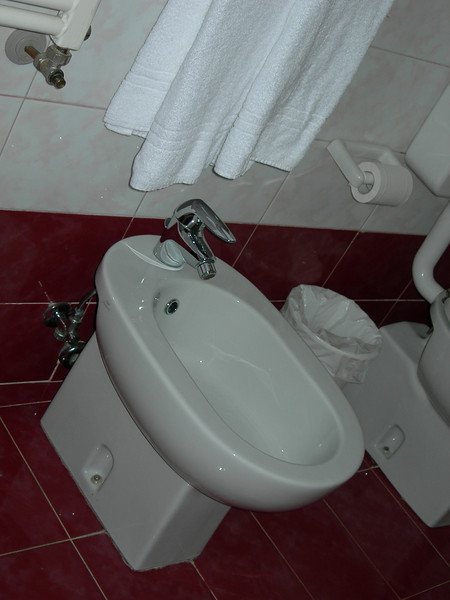 Venice hotel - bathroom with close up of the bidet
