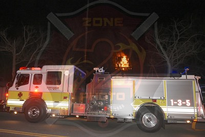 Copiague F.D. Signal 23 Railroad Tie Fire Behind 1120 Marconi Blvd. 3/21/17