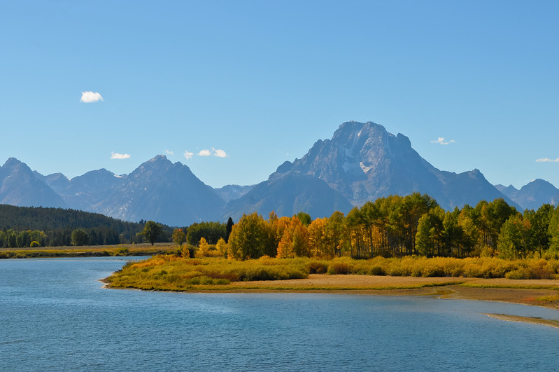 Grand Teton National Park.  Mount Moran from the Oxbow.