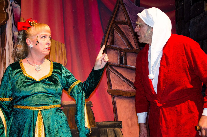 Kerry Hedley as Ghost of Present with Dave Teeter as Scrooge
