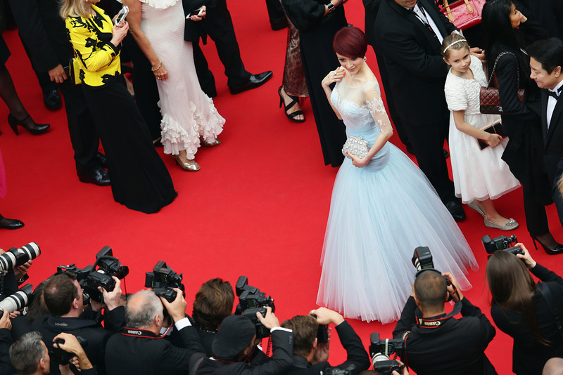 """. Jin Qiaoqiao attends the Opening ceremony and the \""""Grace of Monaco\"""" Premiere during the 67th Annual Cannes Film Festival on May 14, 2014 in Cannes, France.  (Photo by Vittorio Zunino Celotto/Getty Images)"""
