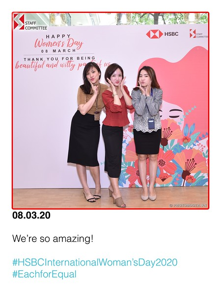 HSBC Hanoi | International Women's Day instant print photo booth @ 83B Ly Thuong Kiet Office |  Chụp hình lấy ngay Sự kiện Quốc tế Phụ nữ 8/3 | Photobooth Hanoi