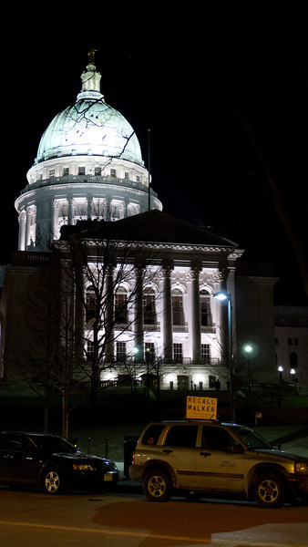 Madison Wisconsin; we had a quick walk around the Capital Buildings after Canoecopia. Note the Recall Walker sign.