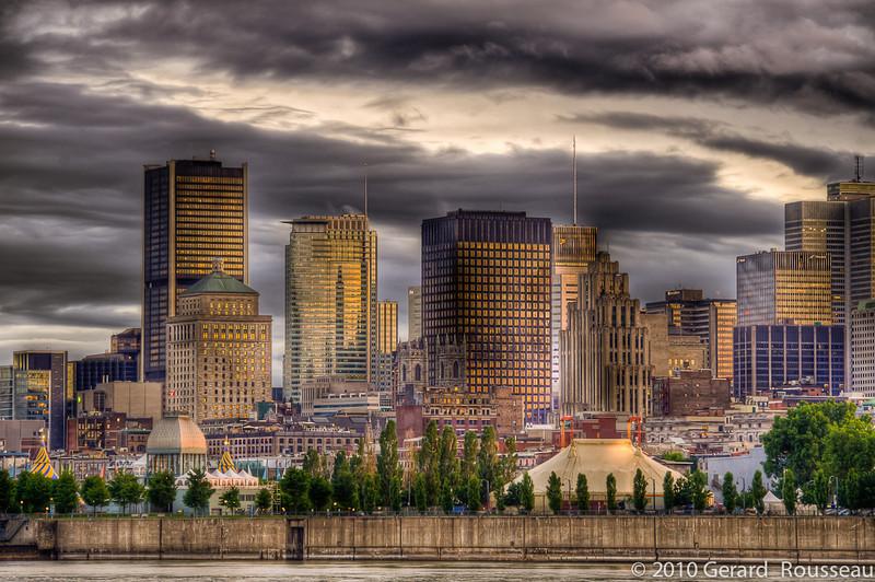 Montreal vue de la rive sud