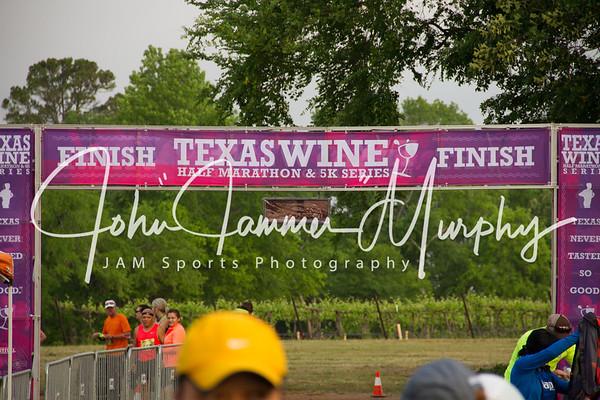 Texas Wine Half Marathon and 5 K Series at Kiepersol Winery and Distillery, Bullard TX April 16, 2016