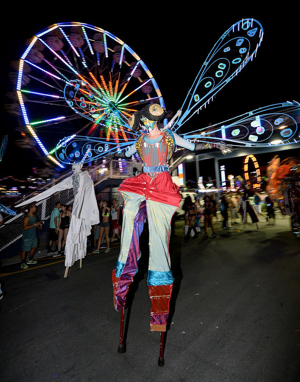 . A performer appears at the 17th annual Electric Daisy Carnival at Las Vegas Motor Speedway on June 21, 2013 in Las Vegas, Nevada.  (Photo by Ethan Miller/Getty Images)