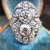 1.75ctw Edwardian Toi et Moi Old European Cut Diamond Ring  8
