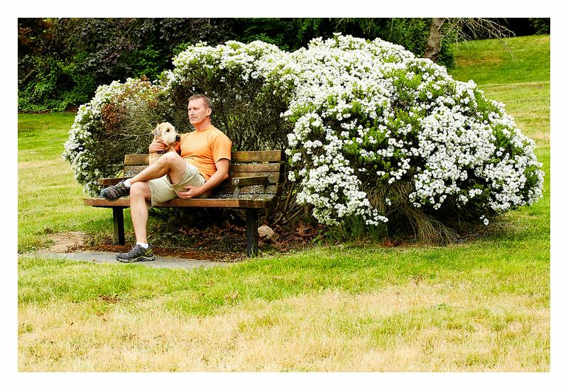 Self-portrait- with Olive at Juanita Park, Kirkland, WA