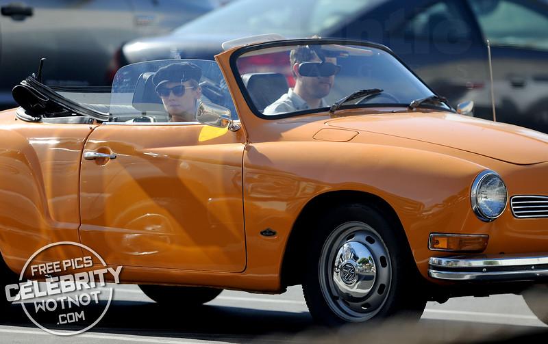 EXC: Joshua Jackson And Diane Kruger In Vintage Orange VW Sports Car!