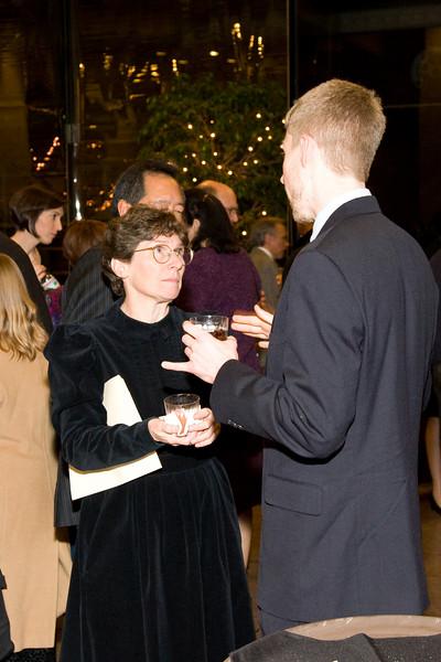 Edie Stern talks with composer/HSO alumnus Matt Stofferahn --HSO 25th anniversary post-concert Gala