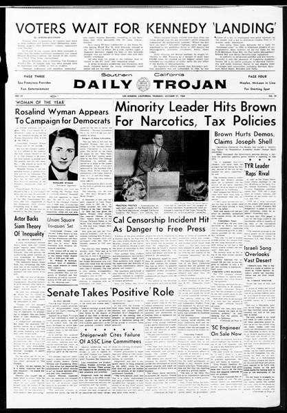 Daily Trojan, Vol. 52, No. 29, October 27, 1960
