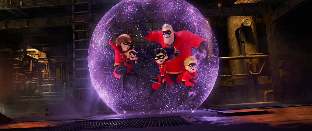 """. This image released by Disney Pixar shows a scene from \""""Incredibles 2,\"""" in theaters on June 15.  (Disney/Pixar via AP)"""