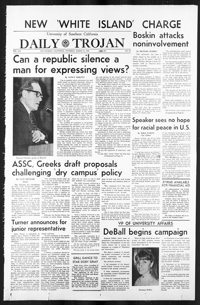 Daily Trojan, Vol. 59, No. 90, March 14, 1968