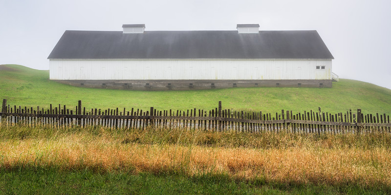 Barn in Fog, Sea Ranch, California