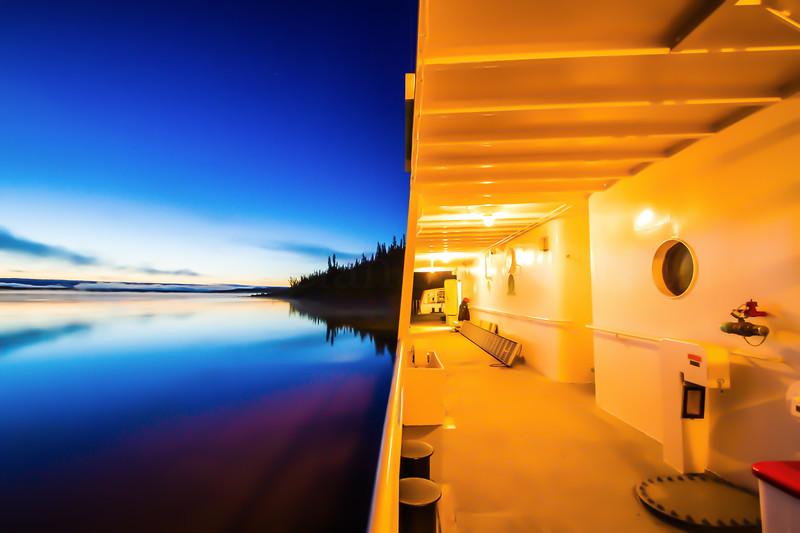 Dawn on the Mackenzie River