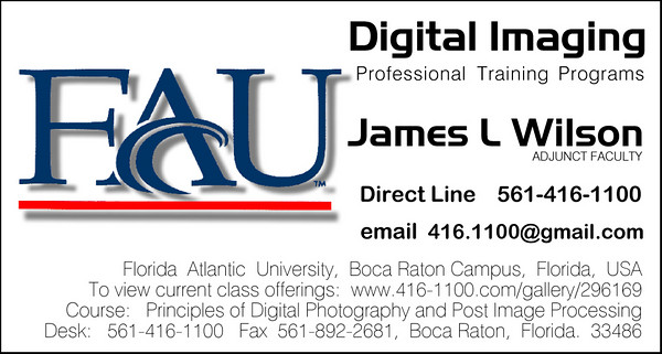 FAU Course and Press Releases - Published Class Announcements - Other information