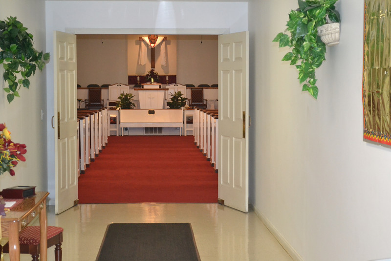 As seen from hallway entering into the sanctuary.
