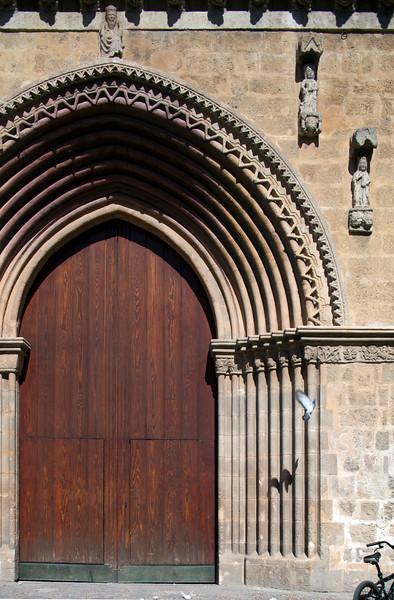 Door of Santa Marina church (13th century), Seville, Spain