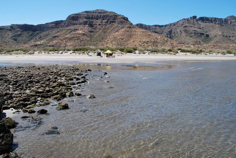 tranquil beach camp