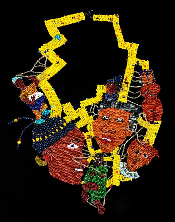 """Joyce Scott, """"Africa"""" (ca 1980)"""
