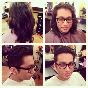 Time for a real change for this handsome guy!  Hair by Christina!