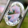 2.32ct Flat Oval Shape Diamond GIA J SI1 21