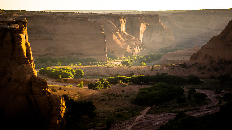 Early light in Canyon de Chelly
