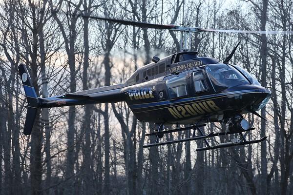"Virginia Beach Police Department 1989 Bell 206-B3 ""Jet Ranger"", Virginia Beach, 18Jan19"