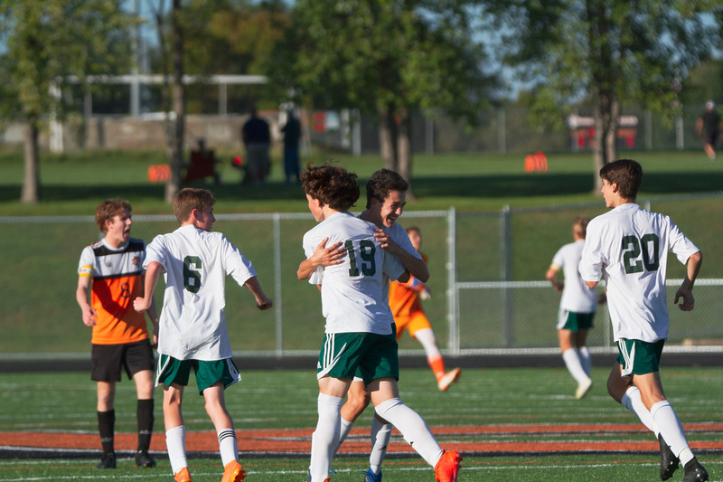 Holy Family Varsity Soccer vs. Delano, 9/19/19: Anthony Olson '21 (19) & Charlie Ficek '22 (4)