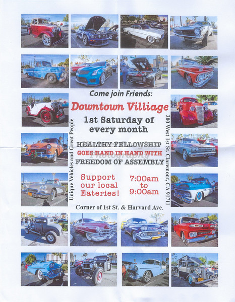 Claremont Downtown Village Car Show
