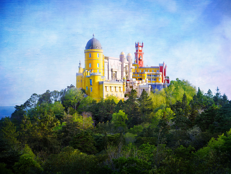 A beautiful castle in Sintra. This one has one of my textures added on top.